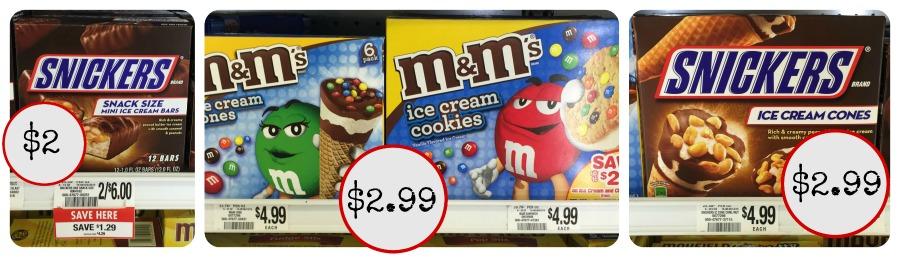 m&m snicker ice cream