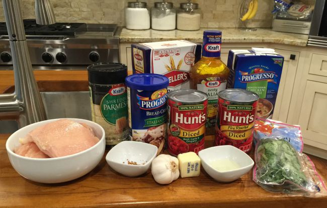 chicken-pasta ingredients