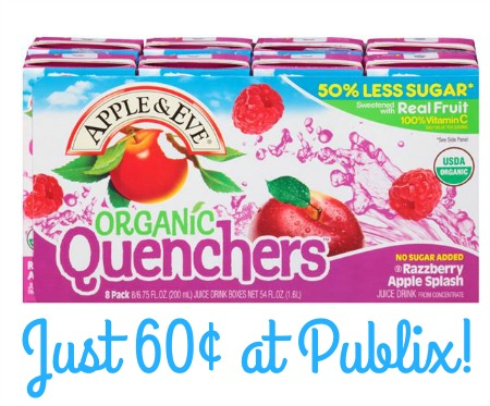 quenchers apple & eve publix