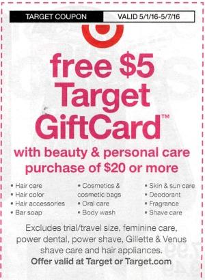 target beauty coupon