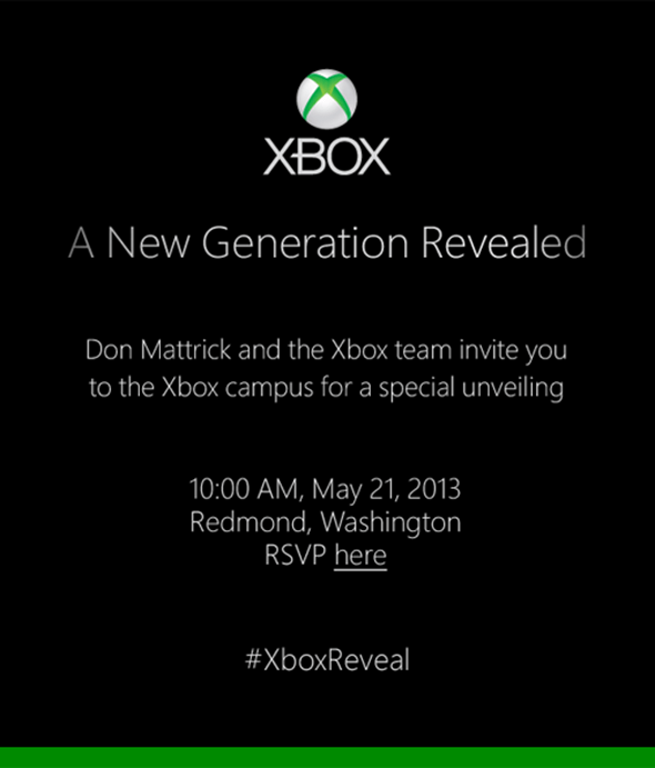 Microsoft confirmed to introduce the new Xbox 720 on May 21
