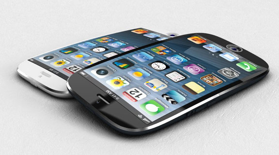 New iPhone concept with a curved screen and a fingerprint scanner [VIDEO]  New iPhone thought with a curved reveal and a fingerprint scanner [VIDEO] Ciccarese Design iPhone 2