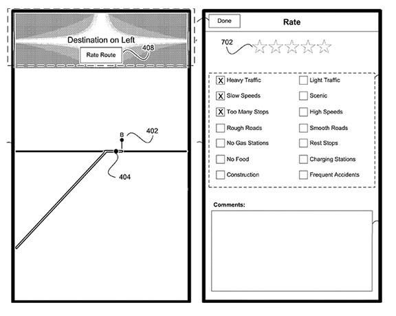 Apple-patent-Maps  Apple is developing a social navigator for iOS, similar to Waze Apple patent Maps 3