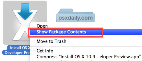 mavericks-Show-package-contents  How you can make a bootable OS X Mavericks USB Pressure mavericks show package contents