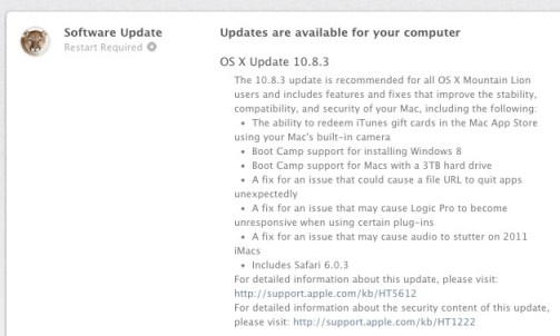 osx-1083-released  Apple released an update to OS X Mountain Lion 10.8.3 osx 1083 released