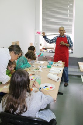 Fotografia de workshop de pintura