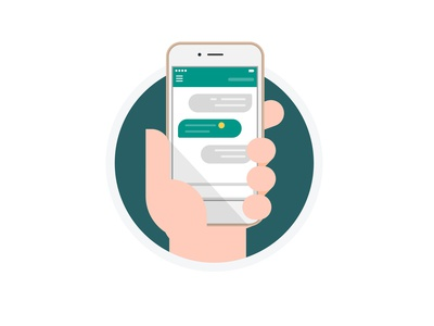 Mobile Instant Messaging - Flat Vector Design