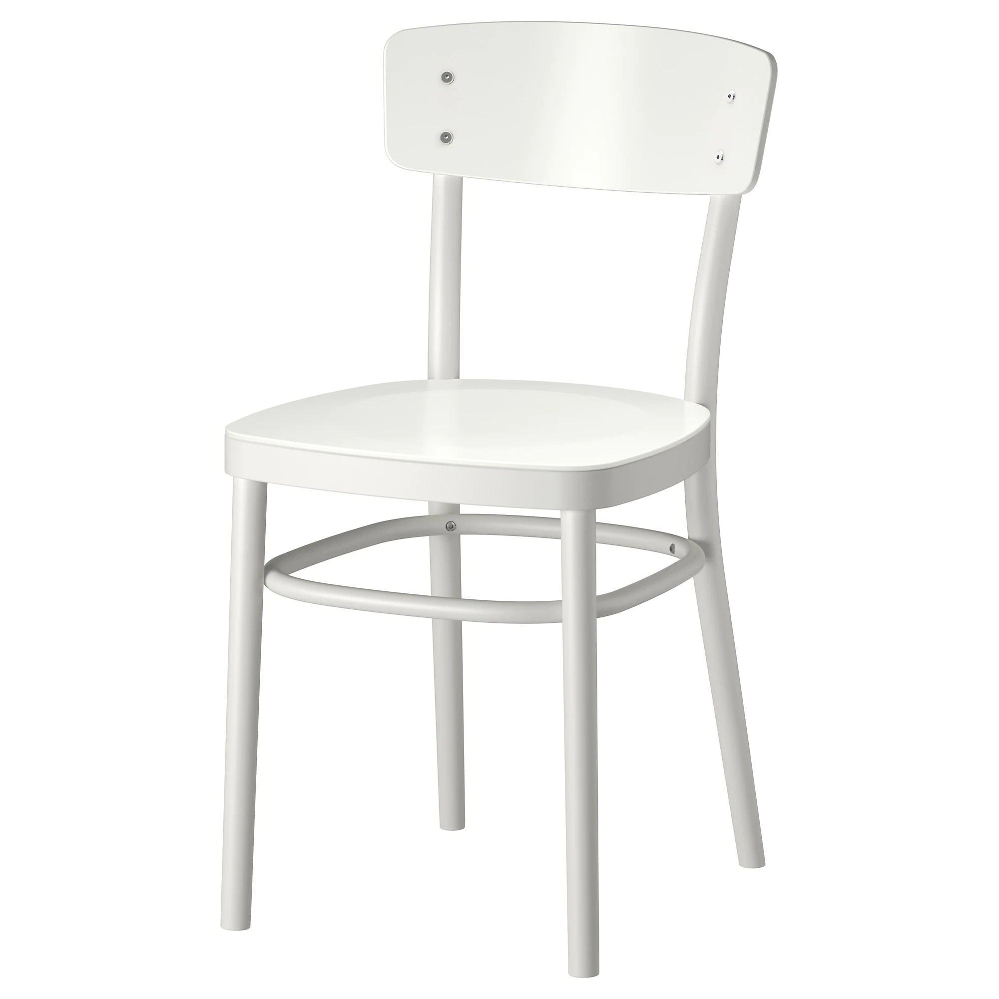 white kitchen chairs IDOLF chair white Tested for lb Width 16 1 2