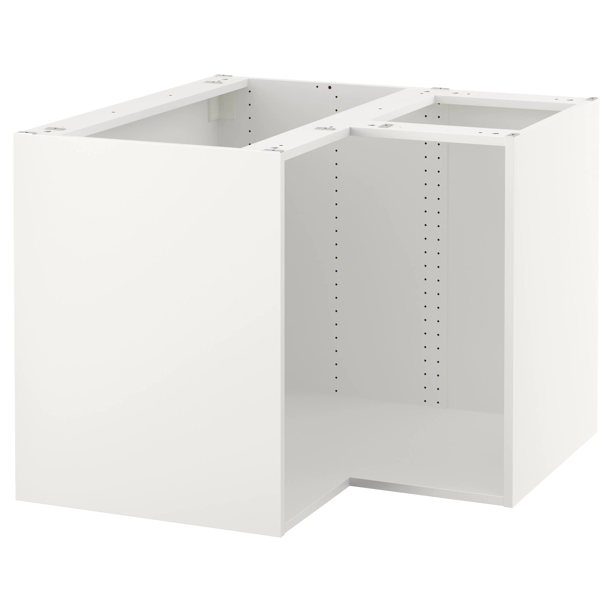 kitchen cabinets with legs SEKTION base corner cabinet frame white Depth without suspension rail 37 3 4