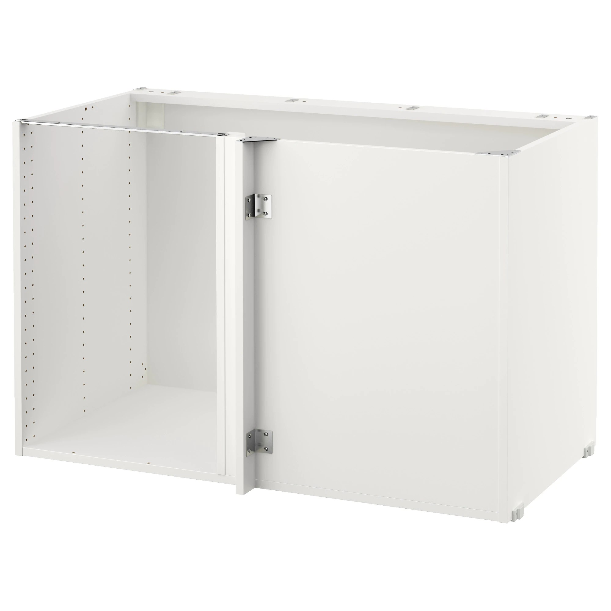 kitchen cabinets with legs SEKTION base corner cabinet frame white Depth without suspension rail 23 5 8