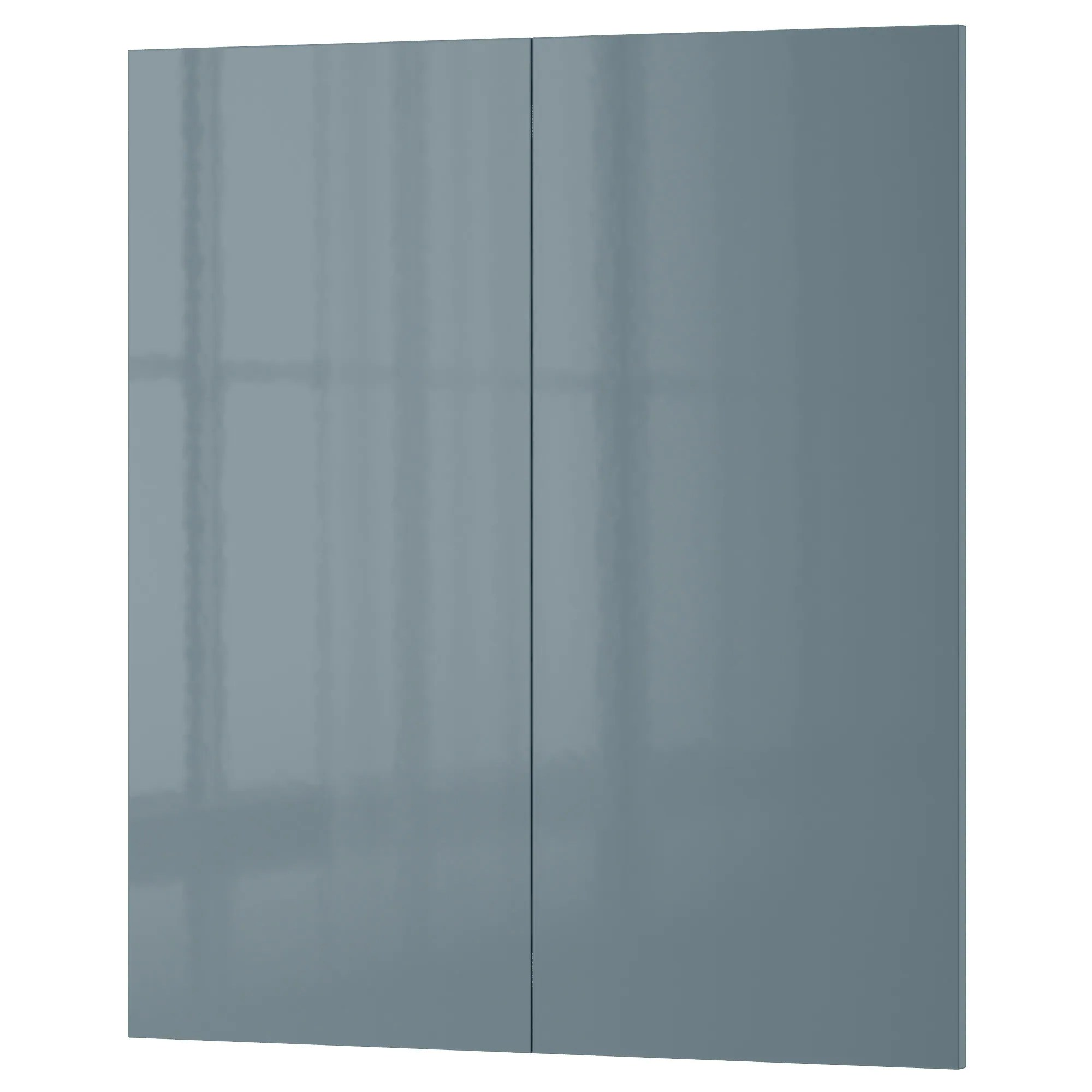 kitchen cabinet door replacement KALLARP 2 p door corner base cabinet set high gloss gray turquoise