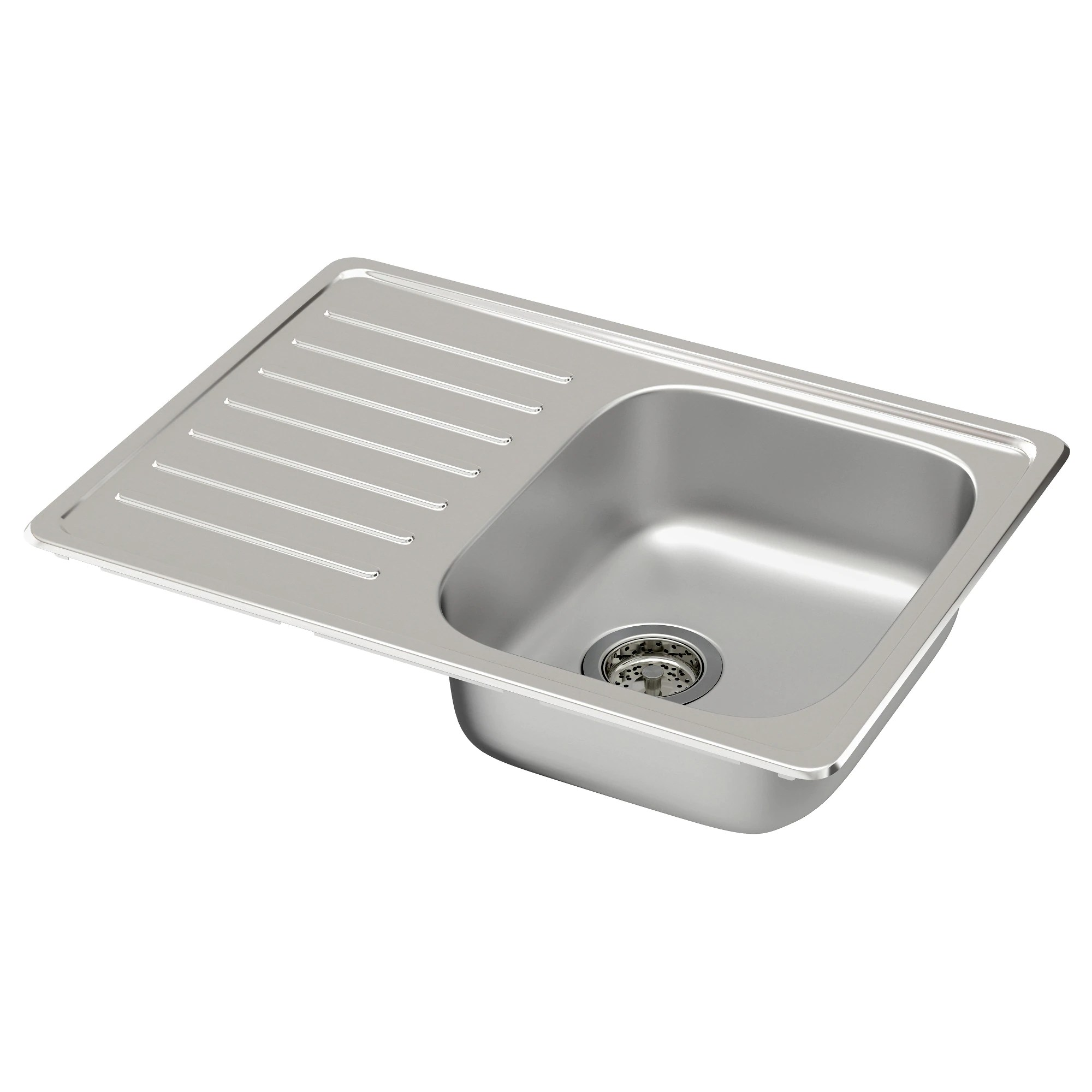 kitchen sink sizes FYNDIG single bowl top mount sink stainless steel Length 27 1 2
