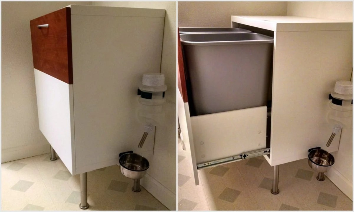 Elegant A Dog Proof Recycle Trash Cabinet Ikea Hackers Ikea Trash Can Canada Ikea Trash Can Bags Trash Cabinet A Dog Proof Recycle houzz 01 Ikea Trash Can