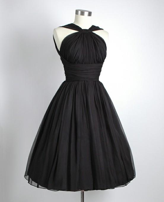 4-Black-Chiffon-Party-Dress