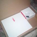 isi kotak Oneplus One dengan sim tray tambahan di luar kotak