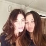 Serena e Elga Enardu al concerto dei Modà