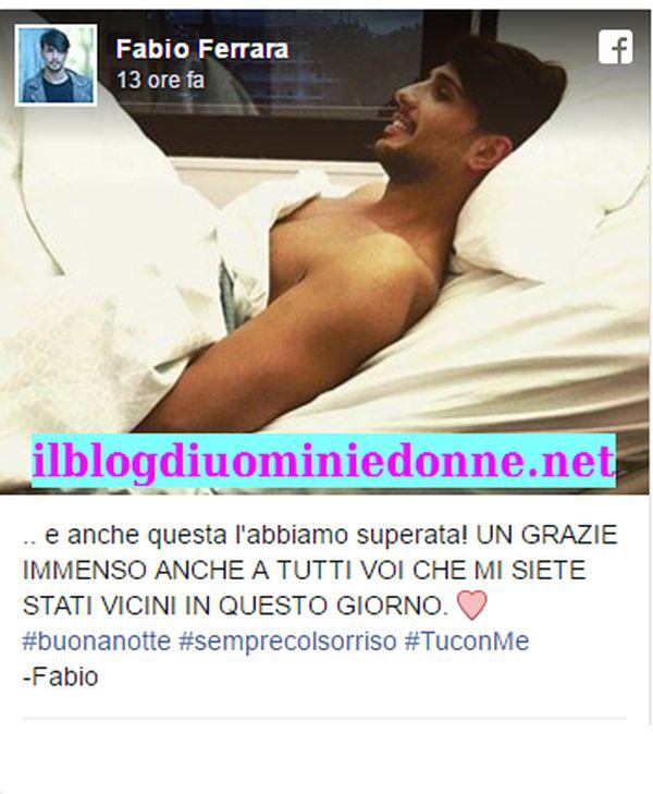 Fabio Ferrara in ospedale, è stato operato