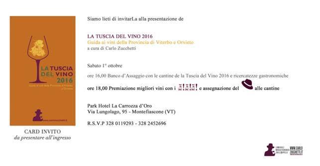 La Tuscia del Vino 2016 di Carlo Zucchetti