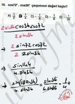 Trigonometri dönüşüm formulleri #ygs #lys matematik fem Yayınları ekleme cikartma yöntemi