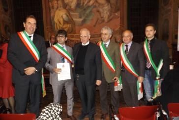 Al sindaco di Fossacesia Di Giuseppantonio il premio 'Serto di pace 2015'