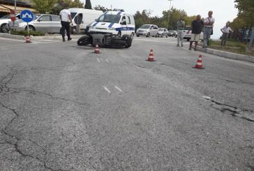 Auto contro scooter, motociclista trasferito al San Pio
