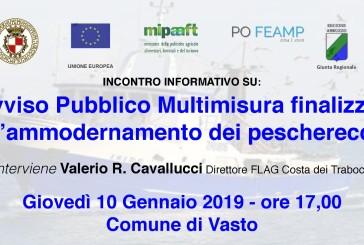 Finanziamento per l'ammodernamento dei pescherecci, incontro in Municipio