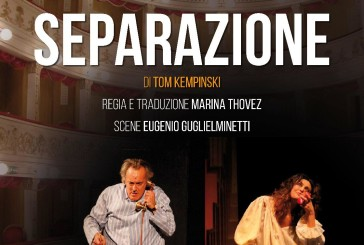 Marina Thovez e Mario Zucca in scena al Teatro Rossetti di Vasto