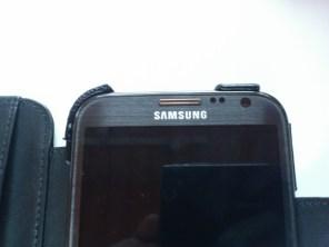Test housse en cuir de protection Norêve pour Samsung Galaxy Note 2 11