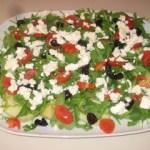 insalata di patate con rucola