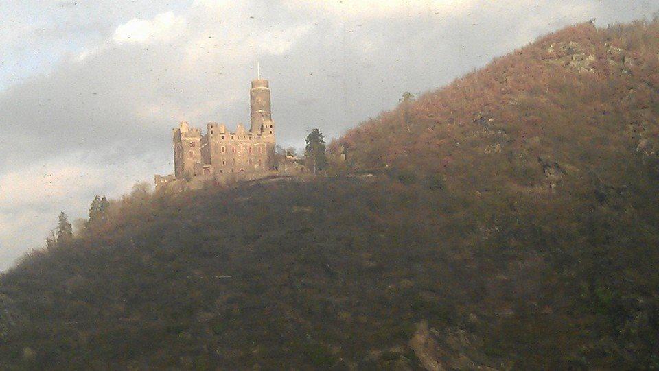 Castles on train ride leaving Frankfurt.