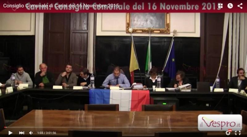 Consiglio Comunale Carini 16-11