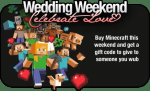 Minecraft, nel week-end compri uno-prendi due per festeggiare il matrimonio di Nocth