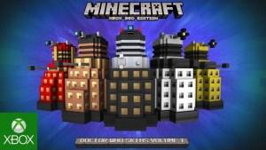 Minecraft, la versione Xbox 360 ha ricevuto il Doctor Who Pack; trailer