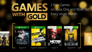 Games with Gold, ecco i giochi di agosto