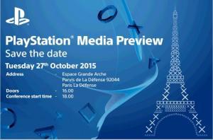 Paris Game Week 2015, Sony terrà la conferenza il 27 ottobre