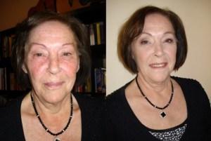 voor en na make up
