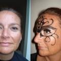 Thema make-up gemaskerd bal