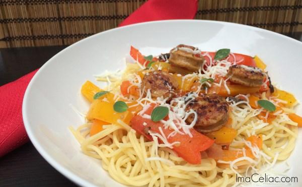 GF sausage Peppers | ImaCeliac.com