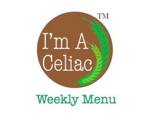 Gluten Free Weekly Menu Plan July 25 2016