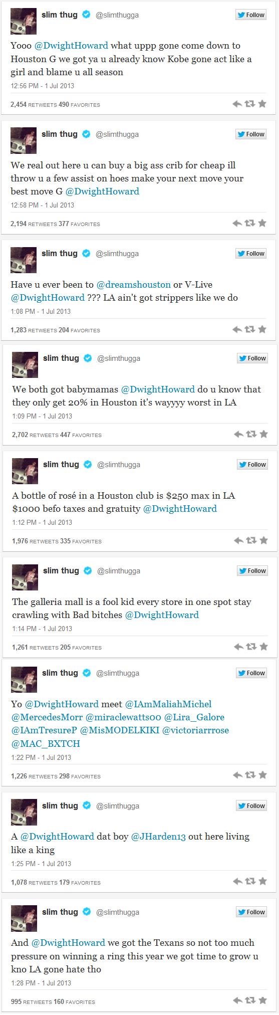 Slim Thug Tweet