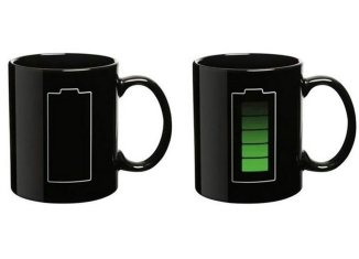 battery thermometer mug