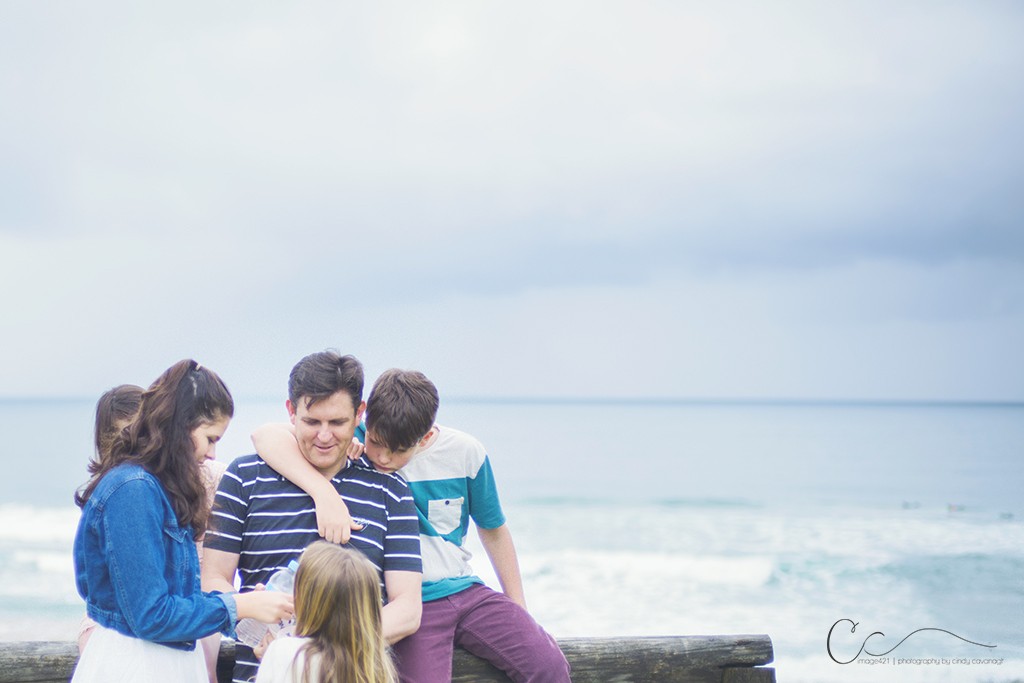 Family portraits at the beach in Sydney