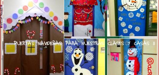 Mil y una ideas para decorar nuestra clase en navidad for Puertas decoradas navidad material reciclable