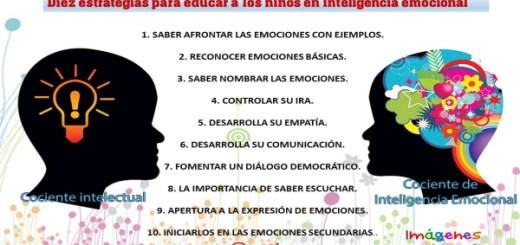 Diez estrategias para educar a los niños en inteligencia emocional Portada