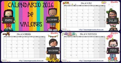 Calendario y planificador 2016 IMAGENES EDUCATIVAS Portada