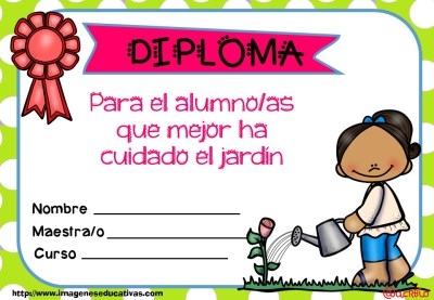 Diplomas FIN DE CURSO para premiar actitud y las capacidades (20)