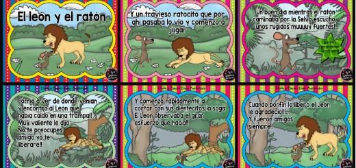 EL LEON Y EL RATON FABULA PORTADA