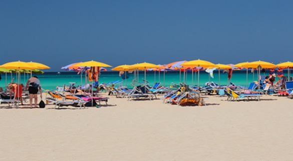 Italian's enjoying the beach