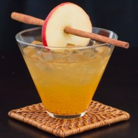 Spiced Apple Ginger Cocktail on Ice