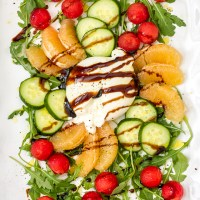 Watermelon Cucumber Burrata Salad